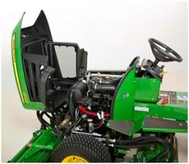 john deere 2653b precision cut trim and surrounds mower service access 2